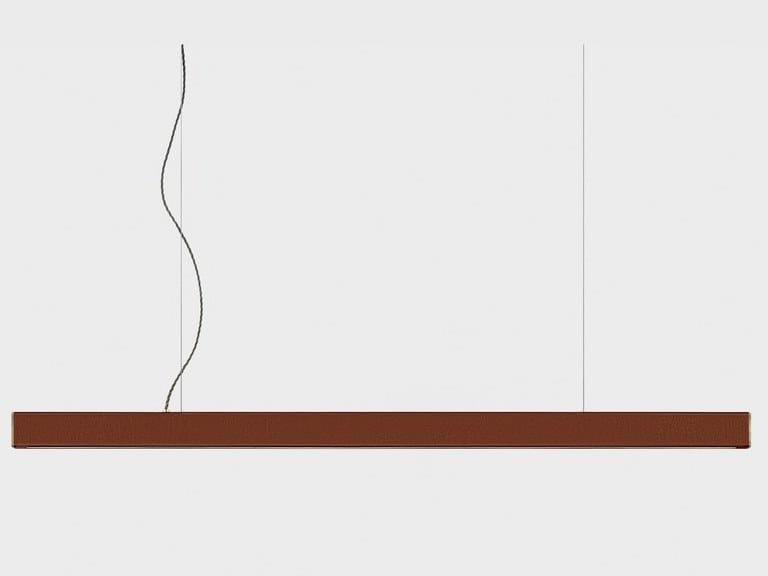 LED leather pendant lamp 2x4 LEATHER by AlexAllen Studio