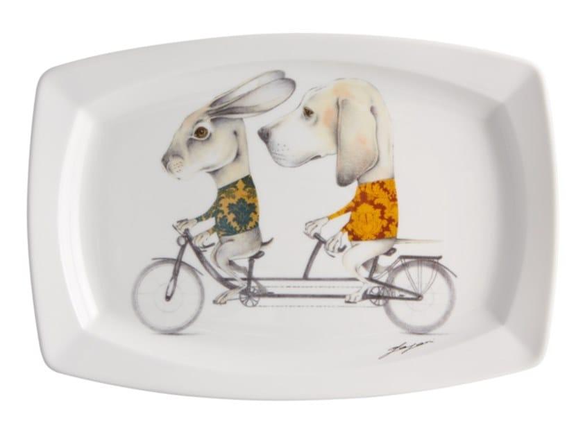 Porcelain plate 2i - by Matteo Pagani by Vista Alegre