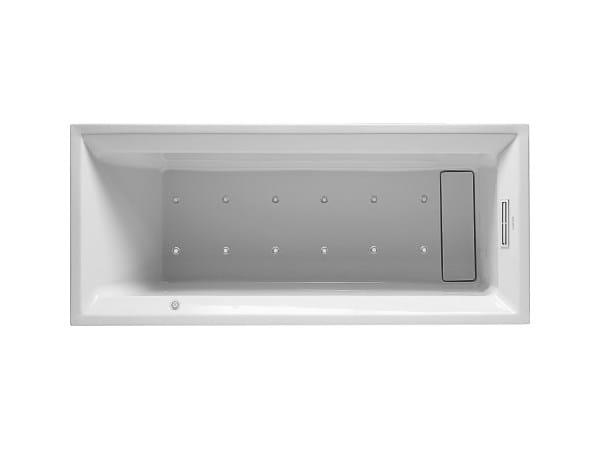 Whirlpool rectangular built-in bathtub 2ND FLOOR | Whirlpool bathtub by Duravit