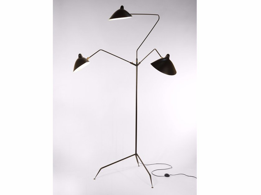 Adjustable metal floor lamp L3B | Floor lamp by Serge Mouille