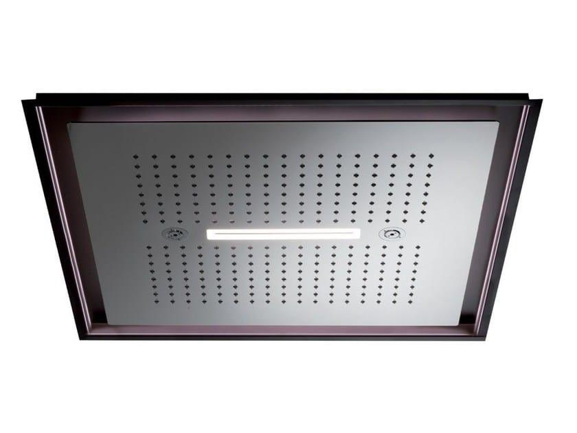 Soffione a led in acciaio inox con 3 getti con illuminazione 3-JETS HEAD SHOWERS | Soffione con illuminazione by newform