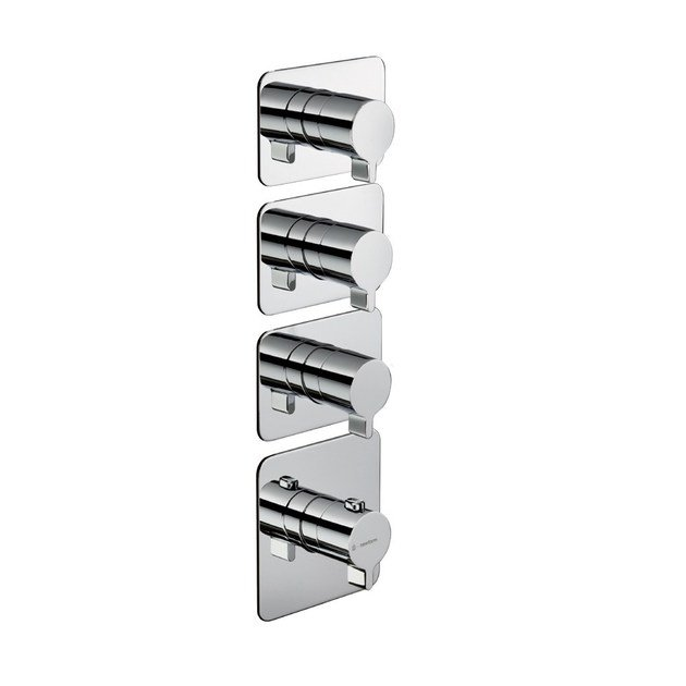 Thermostatic thermostatic shower mixer 3-WAY OUT THERMOSTATIC SELECTORS   Thermostatic shower mixer by newform