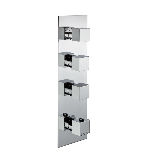 Thermostatic thermostatic shower mixer with plate 3-WAY OUT THERMOSTATIC SELECTORS | Thermostatic shower mixer with plate by newform