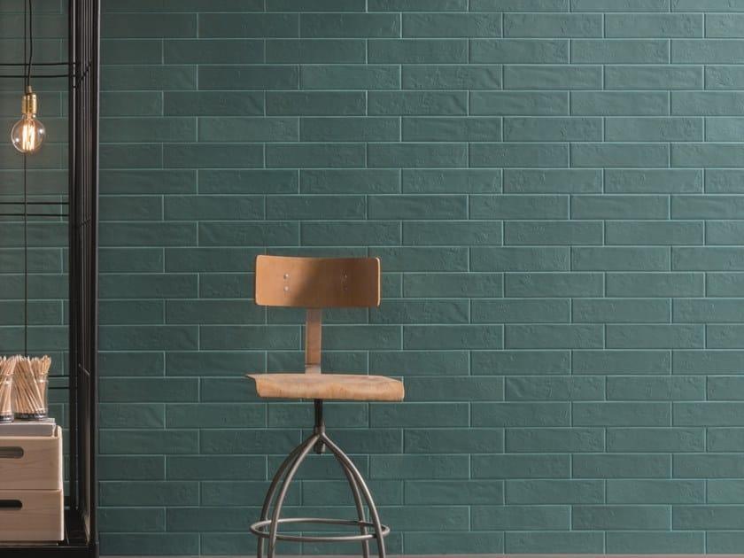Glazed stoneware wall tiles REGOLI VERDE by Marca Corona