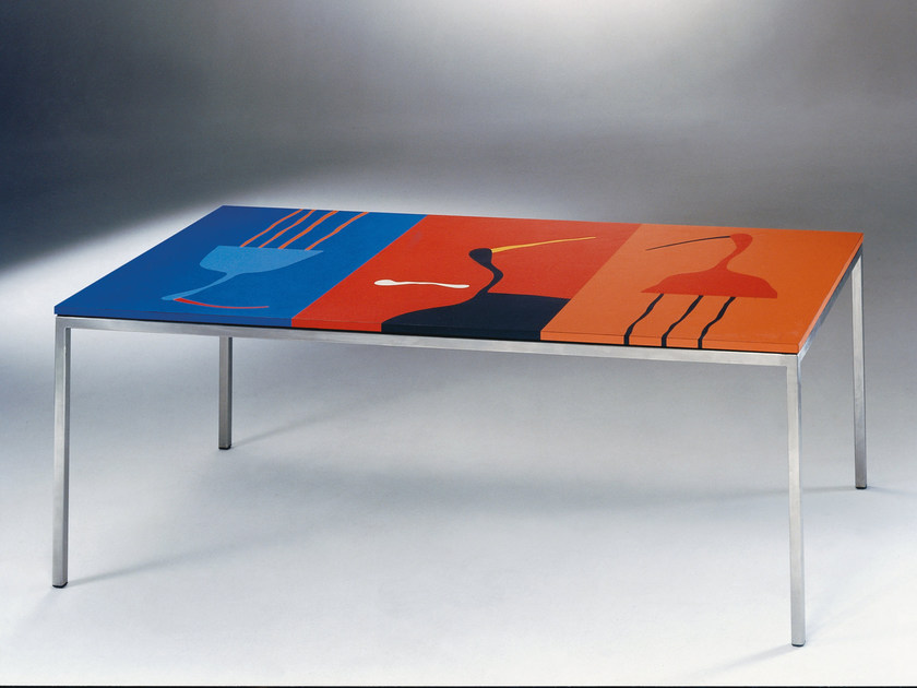 Rectangular laminate table 3-FLY | Table by Mirabili