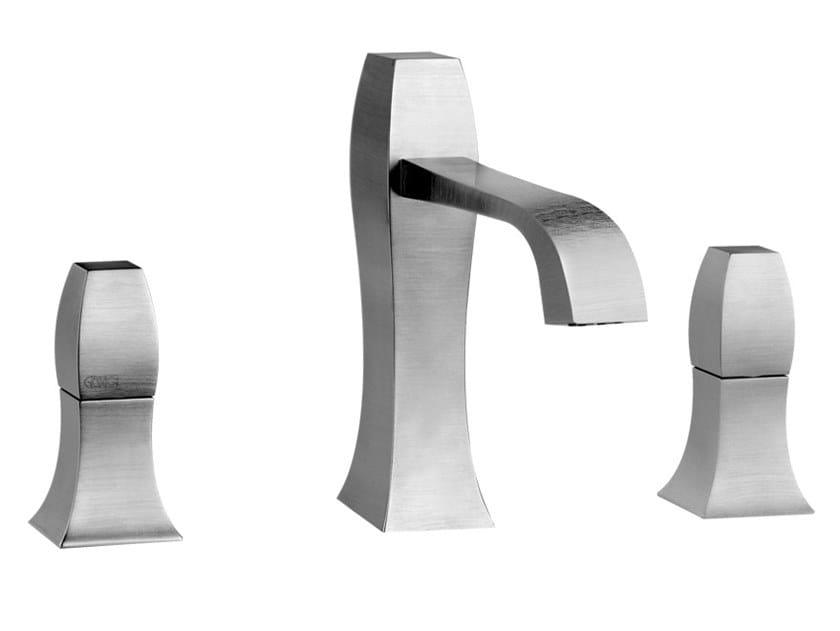 3 hole countertop brass washbasin mixer MIMI   3 hole washbasin mixer by Gessi