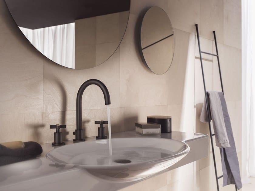 3 hole washbasin tap with individual rosettes LIRA | 3 hole washbasin tap by Nobili Rubinetterie