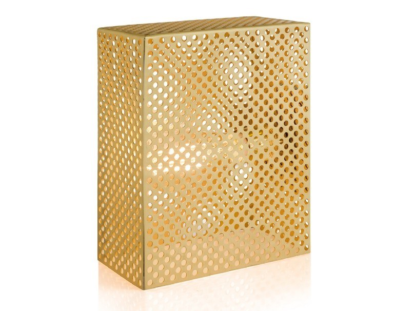 Brass table lamp GRID | Table lamp by Moretti Luce