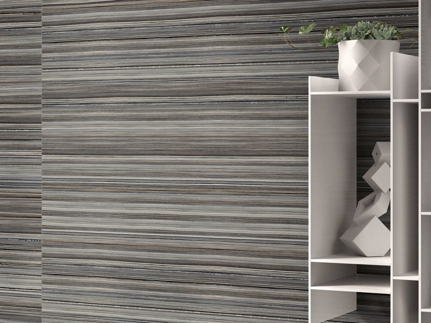 Indoor/outdoor porcelain stoneware wall/floor tiles +3 PAPER ANTRACITE by Viva by Emilgroup