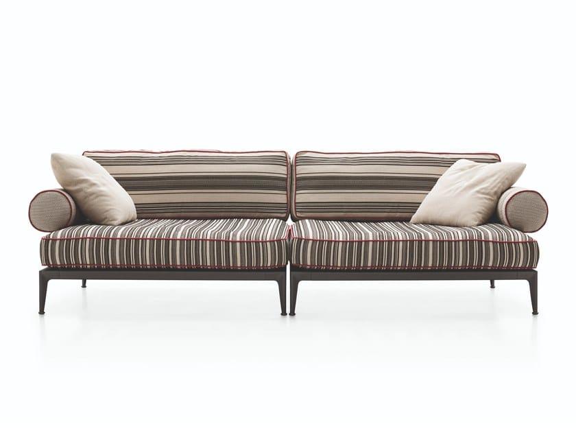 3 seater fabric garden sofa RIBES | 3 seater garden sofa by B&B Italia Outdoor