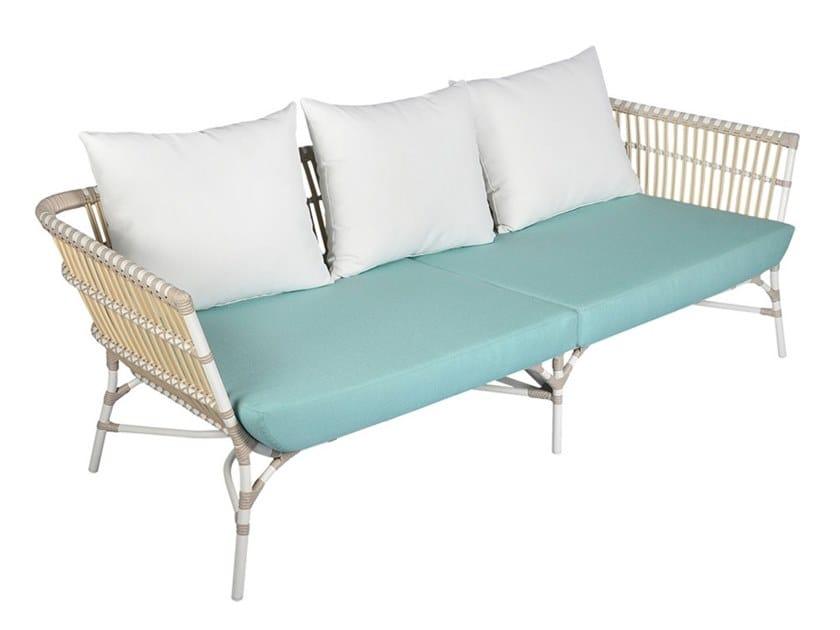 3 seater synthetic fibre garden sofa YOKO | 3 seater garden sofa by cbdesign