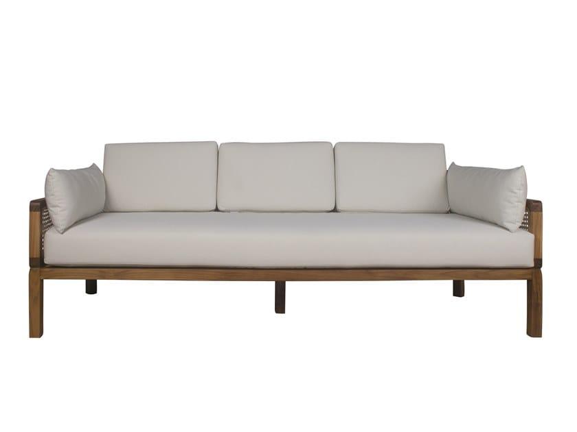 3 seater fabric garden sofa DUAL | 3 seater garden sofa by Il Giardino di Legno