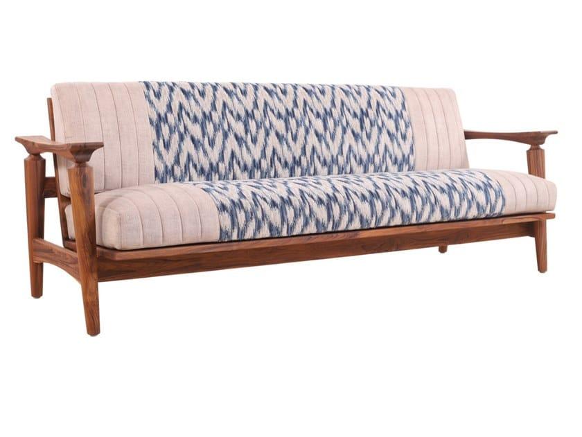 3 seater fabric sofa NISADYA   3 seater sofa by ALANKARAM