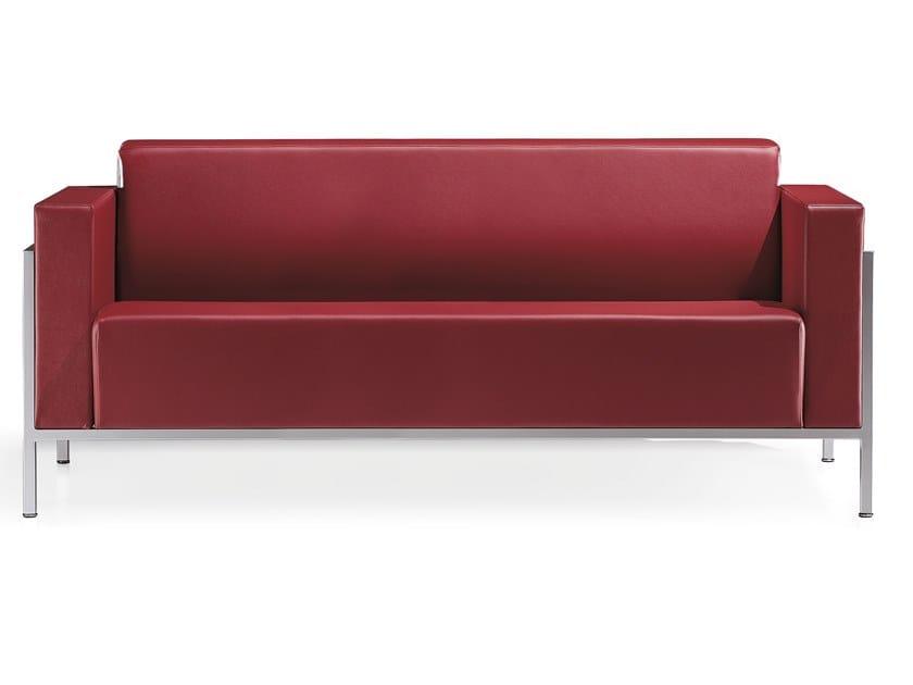3 seater leather sofa KURSAL | 3 seater sofa by Kastel