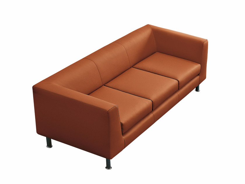 Upholstered 3 seater sofa CUBE | 3 seater sofa by Luxy