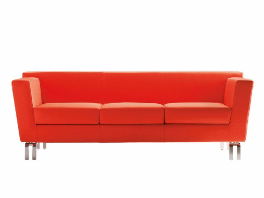 Upholstered 3 seater fabric sofa INOUT | 3 seater sofa by Luxy