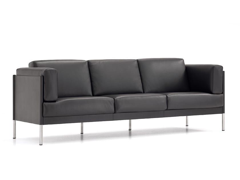 3 seater leather sofa QUADRA | 3 seater sofa by Polflex