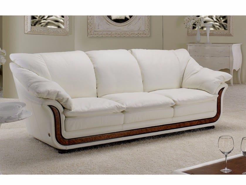 3 seater leather sofa CORNICHE | 3 seater sofa by Nieri