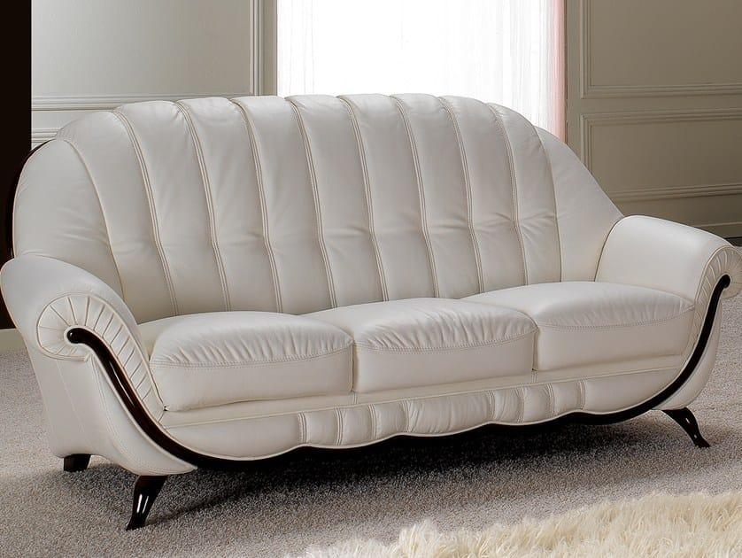 3 seater leather sofa POMPEI | 3 seater sofa by Nieri