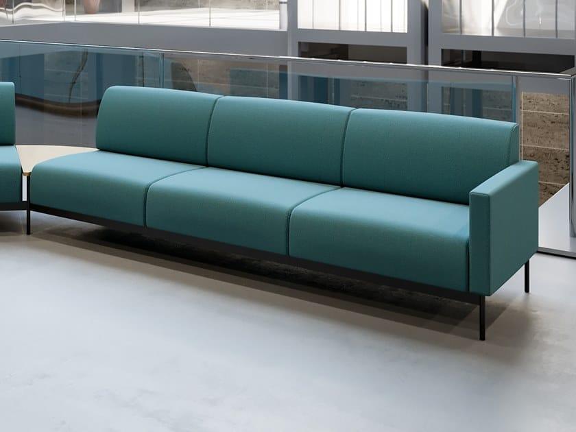 Modular 3 seater fabric sofa HOTEL | 3 seater sofa by Segis