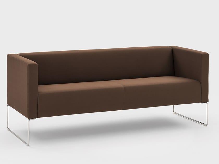 3 seater fabric leisure sofa CUBINO | 3 seater sofa by Viganò
