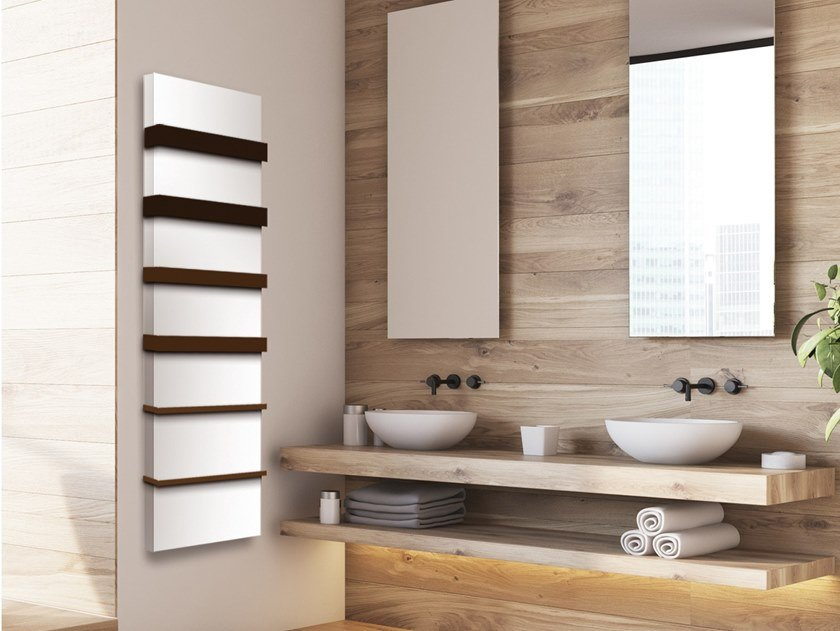 Wall-mounted aluminium towel warmer Decorative radiator by Termoarredo Design