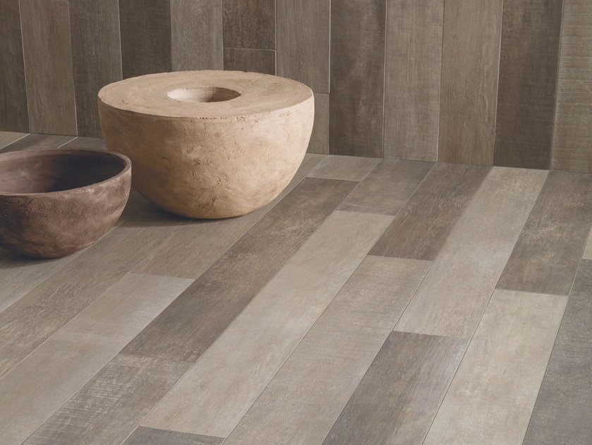 Porcelain stoneware wall/floor tiles with wood effect 300° TINTO by Viva by Emilgroup
