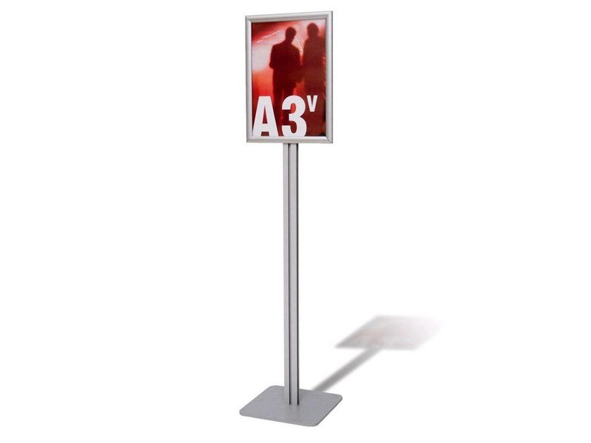 Double-sided floor-standing aluminium display unit Floor-standing aluminium display unit by STUDIO T