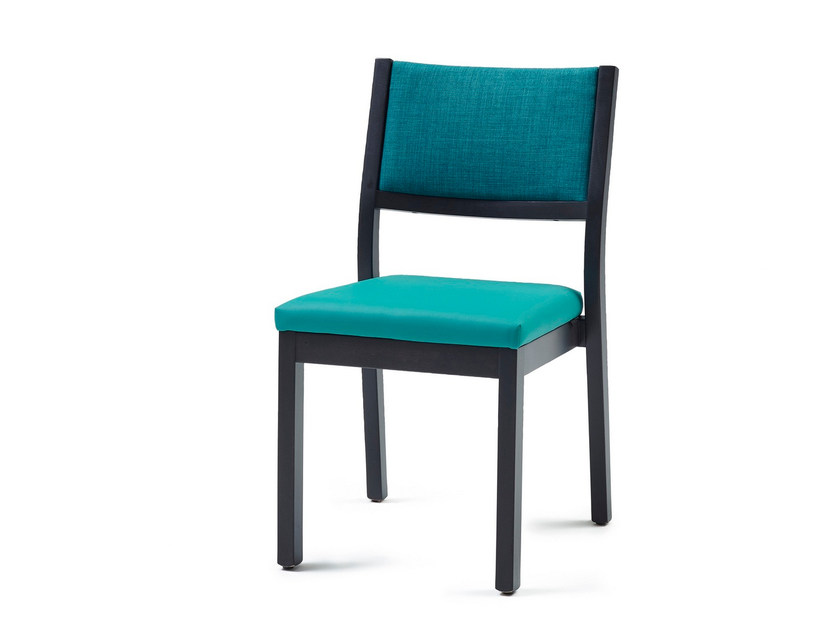 Upholstered stackable fabric chair 3010 ST | Stackable chair by Z-Editions