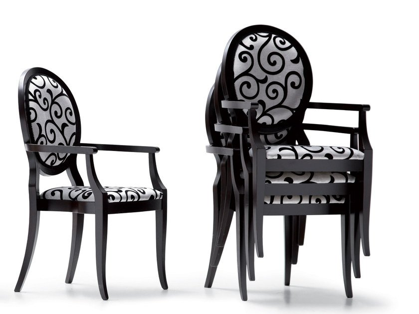 Stackable chair with armrests 30100/P   Chair with armrests by OPERA CONTEMPORARY