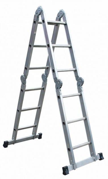 Aluminium heavy duty ladder 3043 by Frigerio Carpenterie