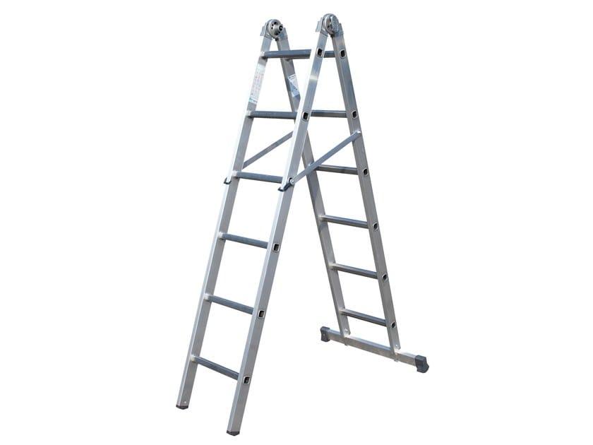 Aluminium heavy duty ladder 3044 by Frigerio Carpenterie