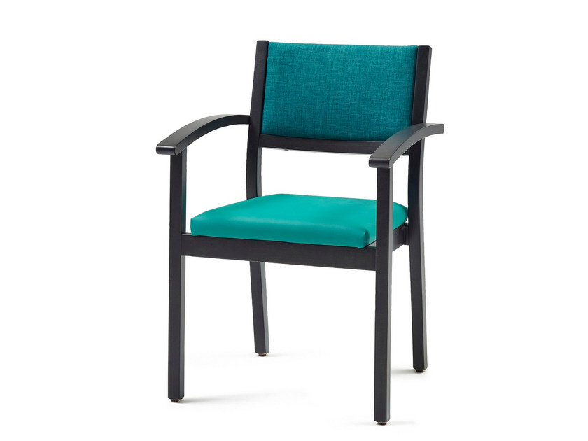 Upholstered stackable fabric chair 3060 + A ST | Stackable chair by Z-Editions