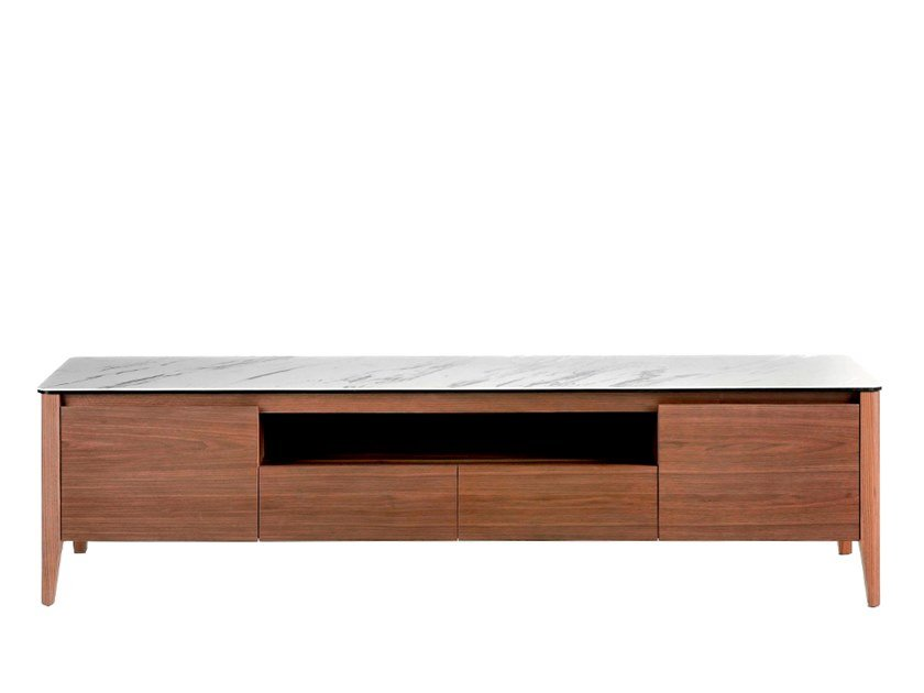 Wood veneer TV cabinet with drawers 3083   TV cabinet by Angel Cerdá