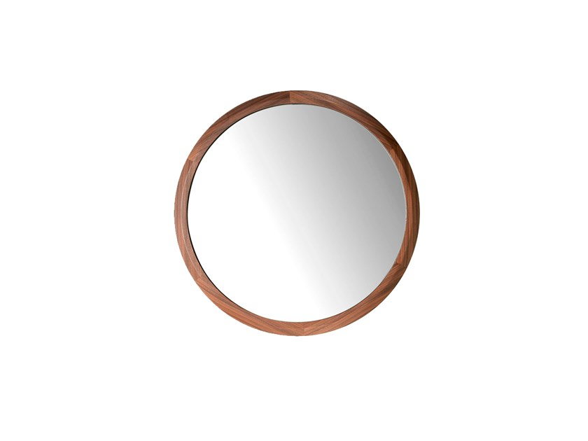 Round framed wall-mounted mirror 3084 | Mirror by Angel Cerdá