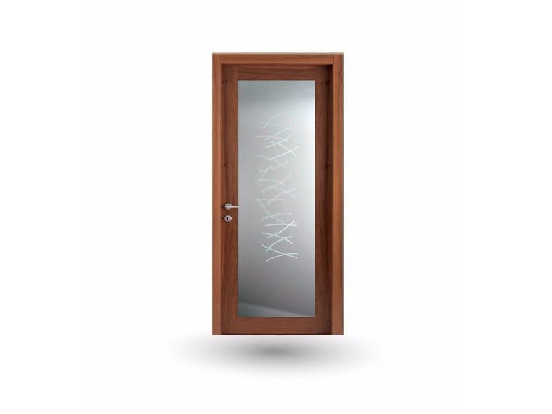 Hinged wood and glass door IMAGO 30V1 NOCE NAZIONALE by GD DORIGO