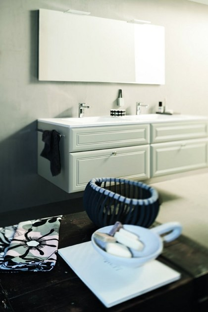 vanity unit with cabinets with mirror 31 by rab arredobagno - Rab Arredo Bagno