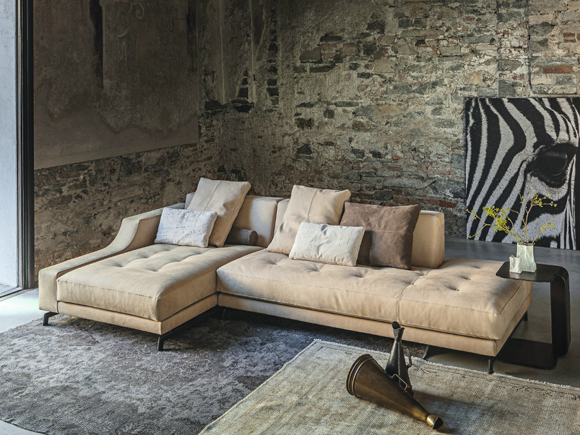 Sectional sofa with chaise longue 310 IDENTITY | Sofa with chaise longue by Vibieffe