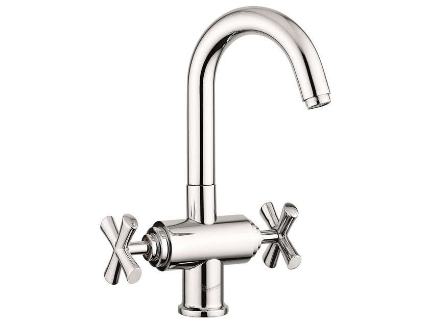 Countertop 1 hole brass washbasin tap with automatic pop-up waste 31003 | Washbasin tap with automatic pop-up waste by EMMEVI RUBINETTERIE