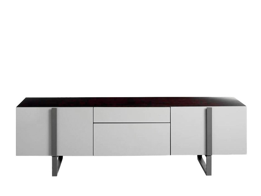 Lacquered MDF TV cabinet with drawers 3106 by Angel Cerdá