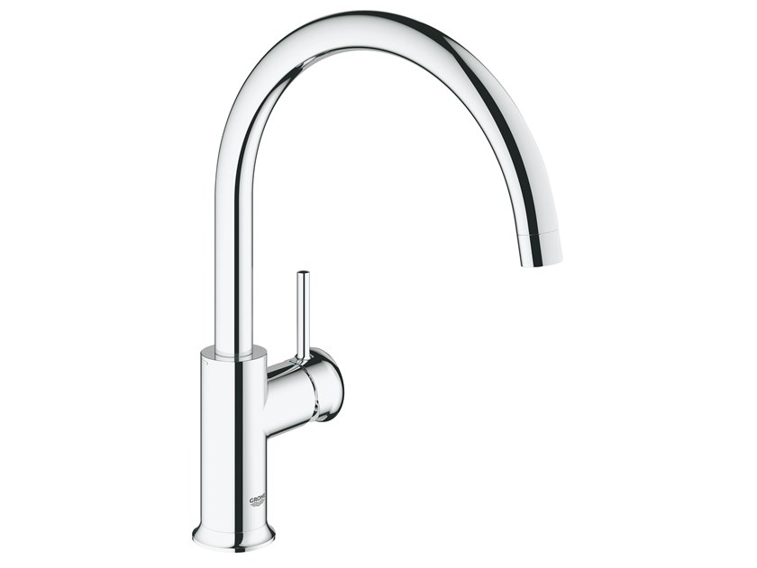 Countertop kitchen mixer tap with swivel spout BAUCLASSIC 31535000 | Kitchen mixer tap by Grohe