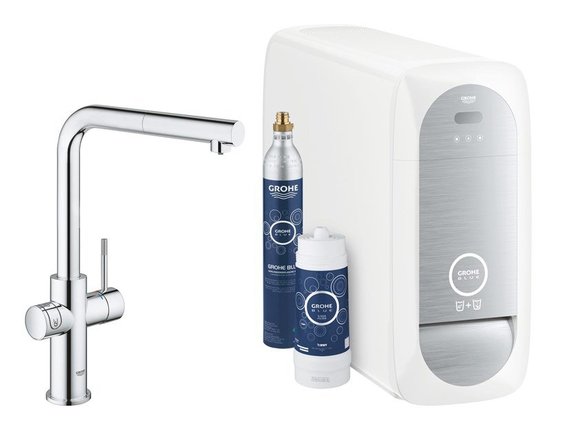 Kitchen tap / water dispenser BLUE HOME 31539000 | Metal kitchen mixer tap by Grohe