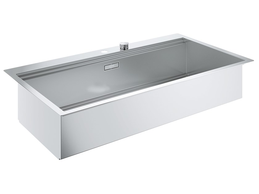 Single flush-mounted stainless steel sink K800 - 31586SD0 | Sink by Grohe