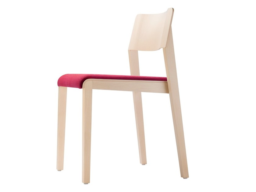 Stackable chair with integrated cushion 330 SPST by THONET