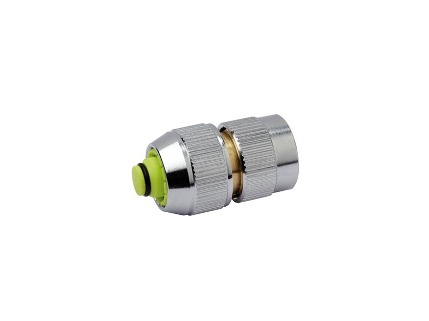 Automatic hose connector with shut-off valve CHROME LINE CONNECTOR CHR335 by AQUAJET by Colortap