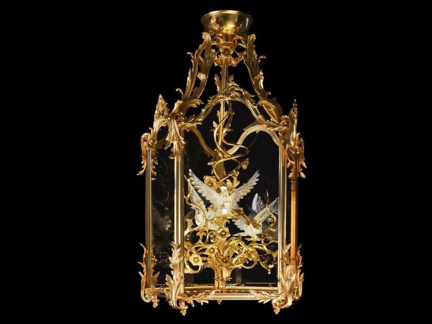 Bronze pendant lamp 34750   Pendant lamp by Tisserant