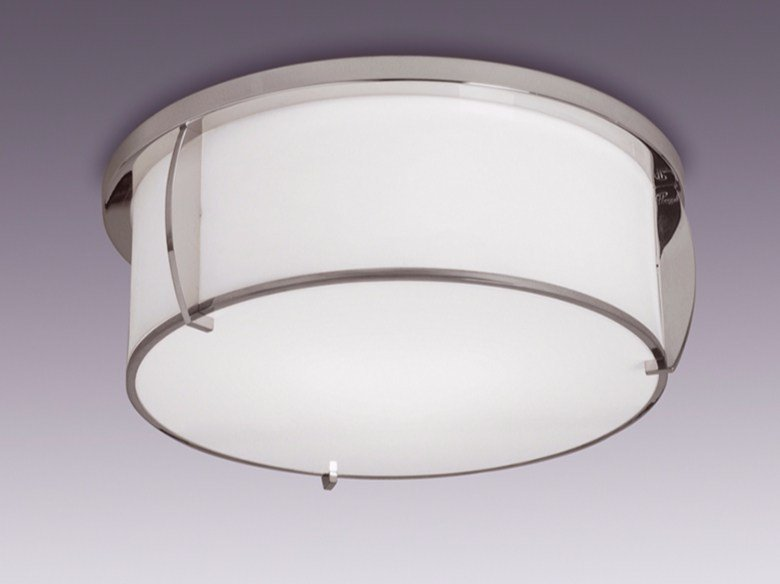 Direct light glass ceiling light 350 | Ceiling light by Jean Perzel