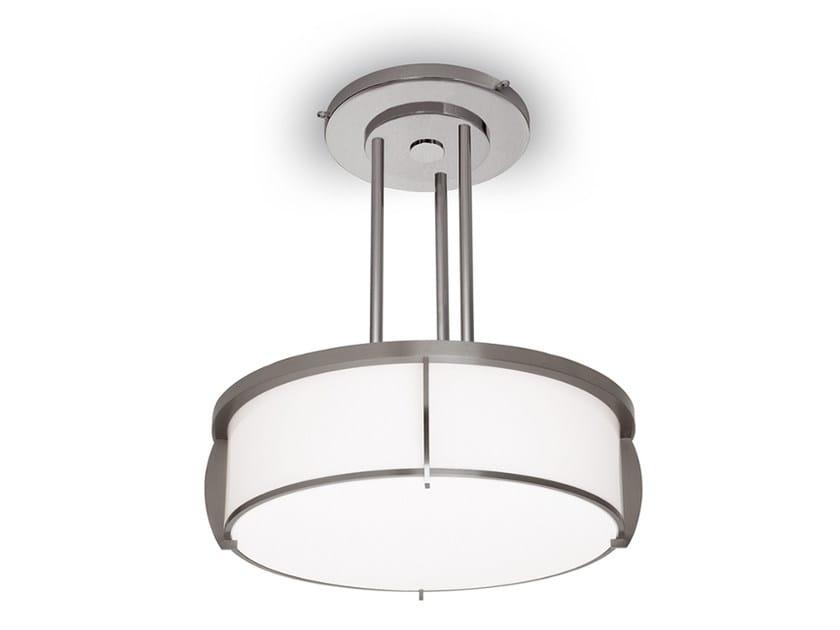 Lampada a sospensione a luce diretta in vetro 350 S | Lampada a sospensione by Jean Perzel