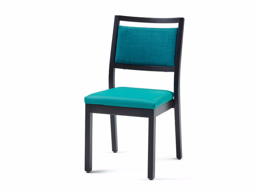Upholstered stackable fabric chair 3510 ST | Stackable chair by Z-Editions