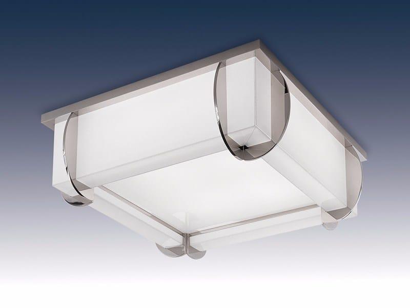 Direct light glass ceiling light 353 | Ceiling light by Jean Perzel